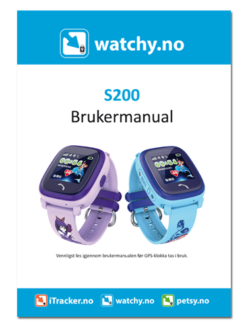 Brukermanual for GPS klokke til barn S200
